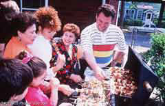 Family at a barbecue; Actual size=240 pixels wide
